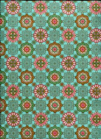 fleur rose fond turquoise.jpg