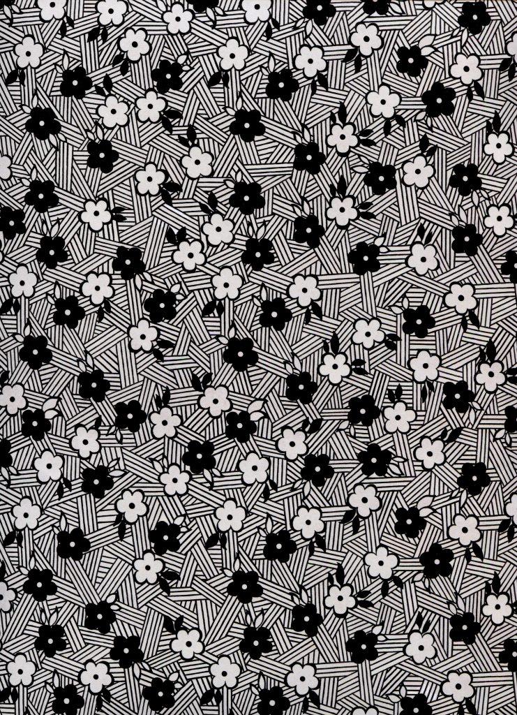 fleur noir et blanche sur rayures.jpg