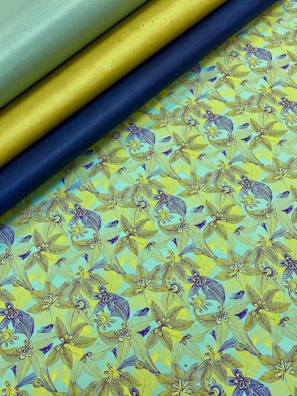 jungle bleu jaune vert deau assortiment