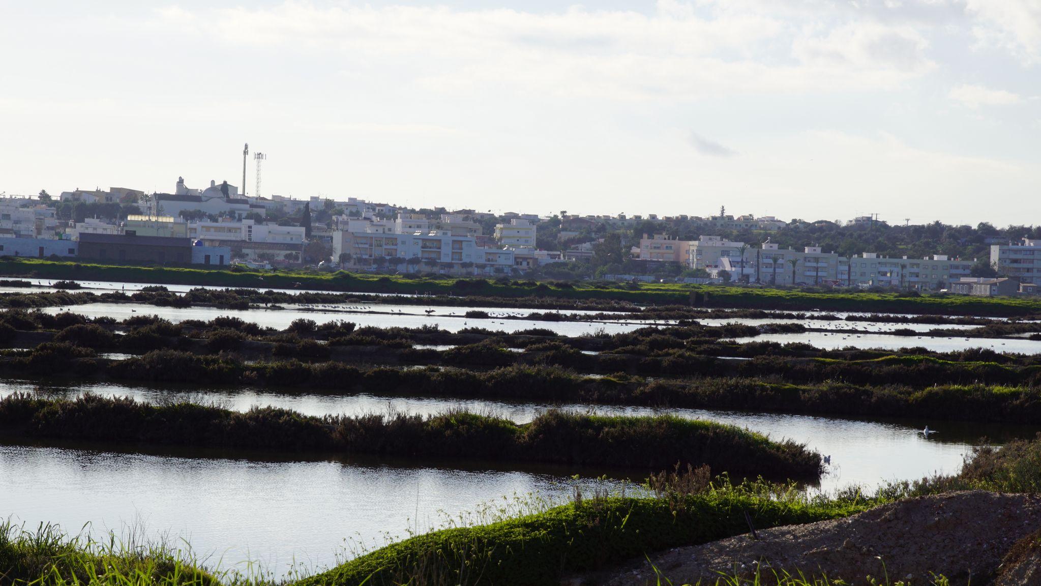 Fuseta est au milieu de la réserve naturelle du marais maritime de Castro Marim