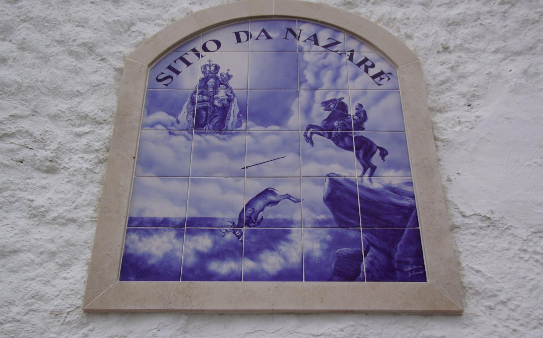 Un azulejo retraçant la légende
