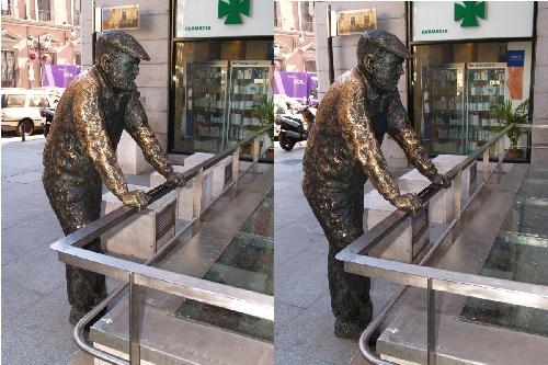 Homme en bronze