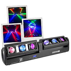 Ce nouveau jeu de lumières dernière génération est dot de LED très lumineuses capables de produire des couleurs intenses avec un faisceau très serré. La rotation Tilt et du PAN 180° permet votre Motion Beam de créer des mouvements jusqu'ici impossibles avec un autre jeu de lumière. Le Motion Beam Bar fait partie d'une famille de 4 produits : Motion Beam 3, Motion Beam 5, Motion Beam 6 et Motion Beam Bar.