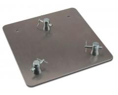 BASE CARRÉE POUR STRUCTURE ALUMINIUM - Base carré pour pose de mâts verticaux en toute sécurité - Qté 2