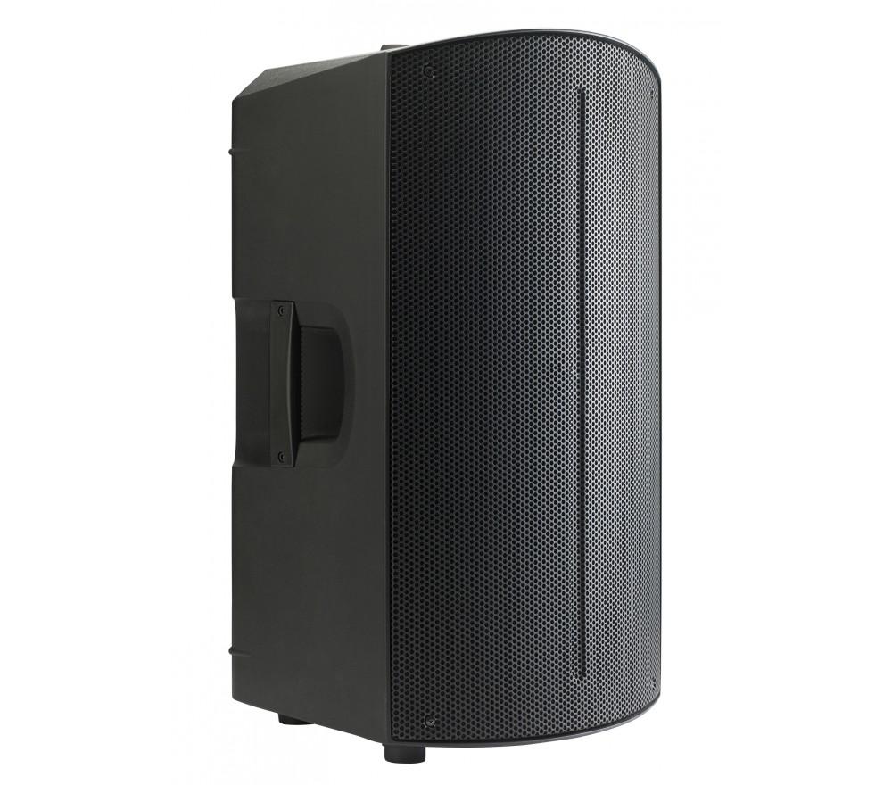 CARACTÉRISTIQUES TECHNIQUES :  • Bi-amplification : - 350 W RMS Class D pour les basses - 50 W RMS Class AB pour les aigus  • Puissance totale de l'amplificateur : 1600 W dynamique / 400 W RMS • Réponse en fréquence : 50 Hz - 20 KHz • Alimentation : Alimentation à découpage SMPS • Dispersion H x V : 90° x 60° • Fréquence de coupure du filtre : 2,8 KHz • Pression acoustique SPL : 123 dB max. • Woofer : 12 pouces / Bobine de 3 pouces / 4 Ohms / 350W AES • Tweeter : Moteur 1,35 pouces / 8 Ohms / 50 W RMS  • Entrées : - 1 entrée MIC/LINE sur COMBO XLR/JACK - 1 entrée ligne sur RCA et mini Jack 3.5 stéréo • Sortie : 1 sortie ligne sur XLR  • Réglages : DSP avec réglages multiples • Protection : Contre les court-circuits, thermique et limiteur