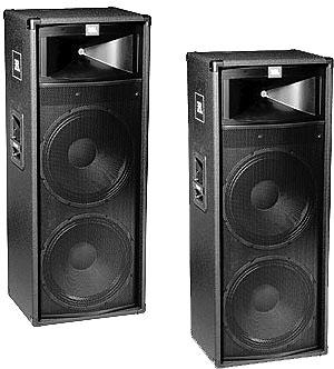 Enceinte de sonorisation passive, finition moquette, 500W RMS / 4 Ohms, Double HP 15