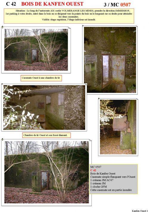 C42 Casemate du Bois de Kanfen Ouest