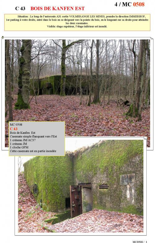 C43 Casemate du Bois de Kanfen Est