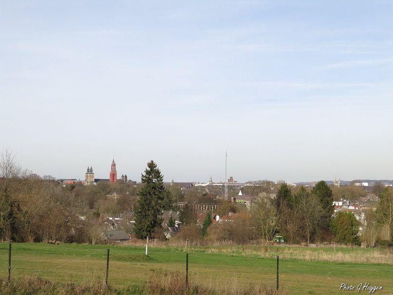 Une vue en direction de Maastricht