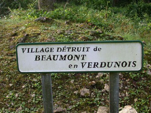 Village détruit de Beaumont en Verdunois