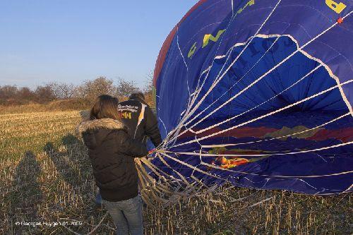 Une montgolfière à Kanne