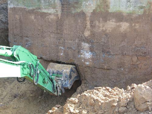 Dégagement du bunker en vue de son déplacement