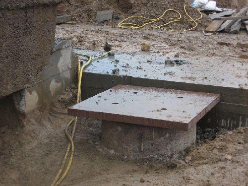 Le dessus d'un des 4 piliers qui supporteront le bunker