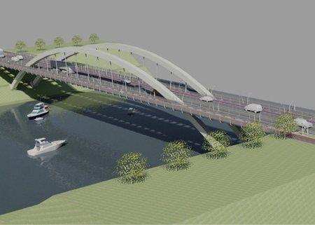 Le futur pont longueur 165 mètres