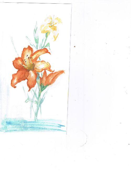 le lys orange ( vendue)