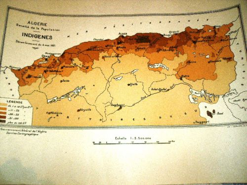 DENSITE DE LA POPULATION INDIGENES-1921