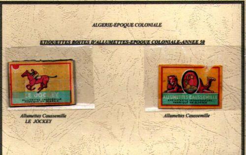 Etiquettes boites d'allumettes-epoque coloniale- années 50