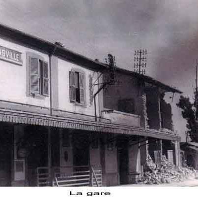 la gare aprés le séisme de 1954
