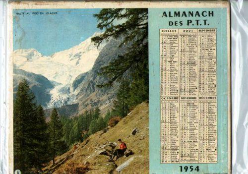 ALMANACH DES PTT.-1954.