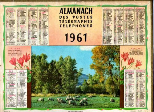ALMANACH DES PTT-1961