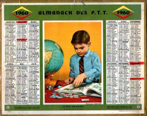 ALMANACH DES PTT-1960