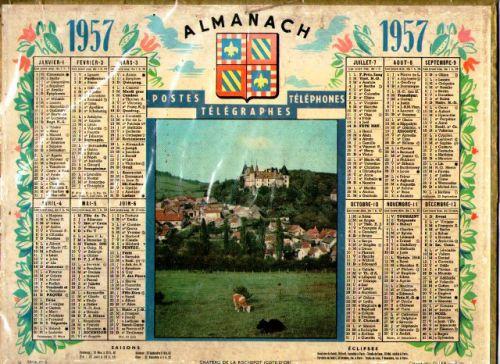 ALMANACH DES PTT-1957