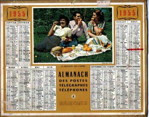 ALMANACH DES PTT-1955