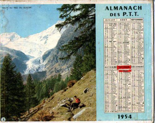 ALMANACH DES PTT-1954