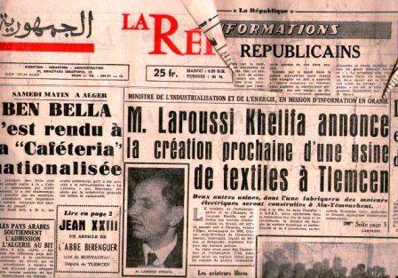 LA REPUBLIQUE -QUOTIDIEN ORANAIS- JUIN 1963