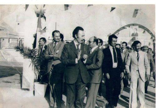 Visite du président Houari Boumediene
