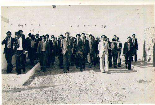 Visite du président Houari Boumediene :