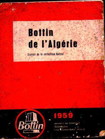 Bottin de l'Algérie 1959
