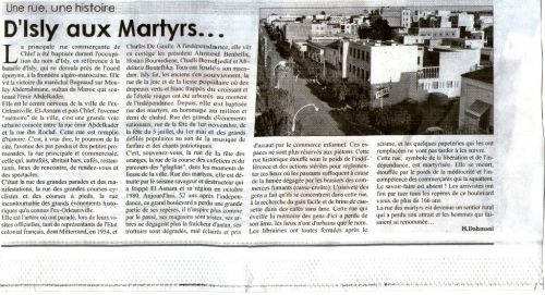 D'Isly aux Martyrs....
