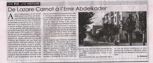 De Lazare Carnot à l' Emir Abdelkader