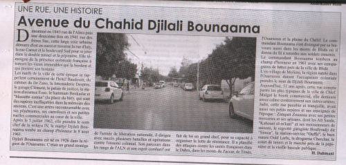 Avenue du Chahid Djilali Bounaama