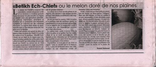 Journal Le Chelif