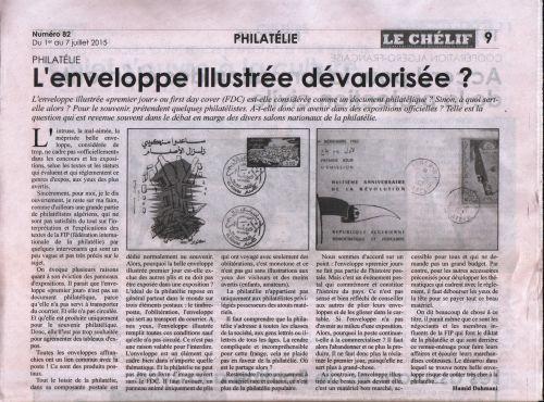 Journal Le Chelif du 01/07/2015