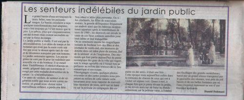Le Chélif du 15/7/2015-Les senteurs indélébiles du jardin public