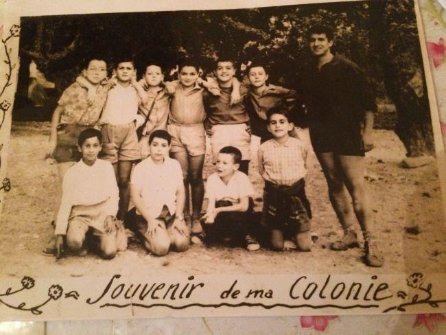 Souvenir de la colonie de vacances dans les Alpes Maritimes avec Benyamina Djamel