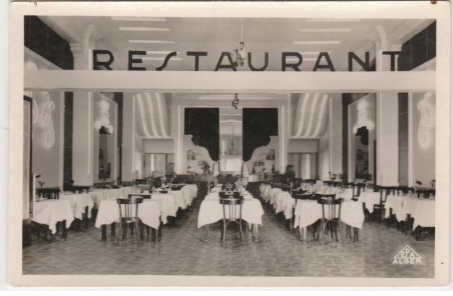Orleansville-Brasserie des Messageries. Rey et Hedjaz proprietaires. (Lieu actuel boulangerie complot)