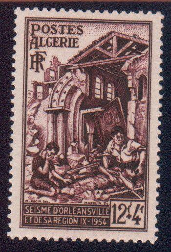 SEISME d\'ORLEANSVILLE  SEP 1954