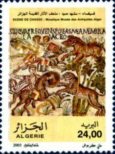 Mosaique Romaine ( scene de chasse 4e s chlef )