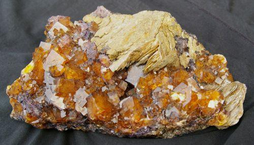 AL 14 - Barytine sur Fluorite, Wolsendorf, Bavière, Allemagne  235 mm x 160 mm (var.Honigspat)