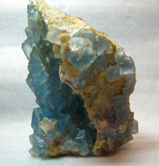 BE 09 - Fluorite, Mine du Beix, Herment,  Puy de Dôme, Niveau R,  200 mm x 140 mm
