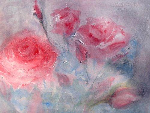 Etude de roses - Gouache sur papier Janvier 2009