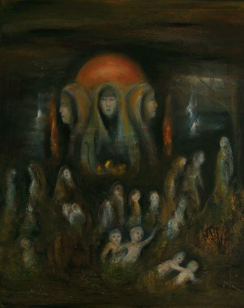 Samhain Night Huile sur toile 40 x 50  Octobre 2009