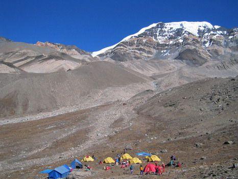 camp de base du Chulu....