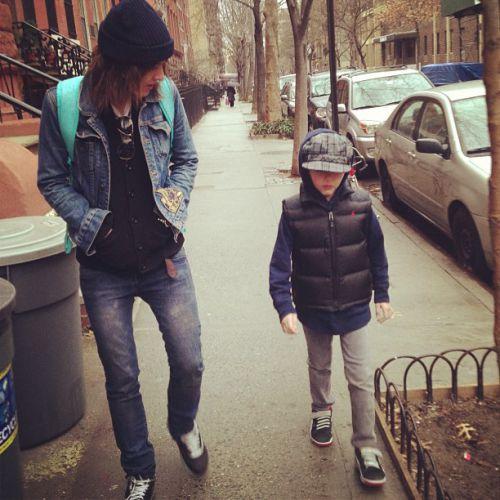 Avec le petit Louie