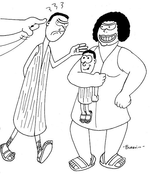 01-09-Florence Gherchanoc 01-L'homme contraint de reconnaître l'enfant.jpg