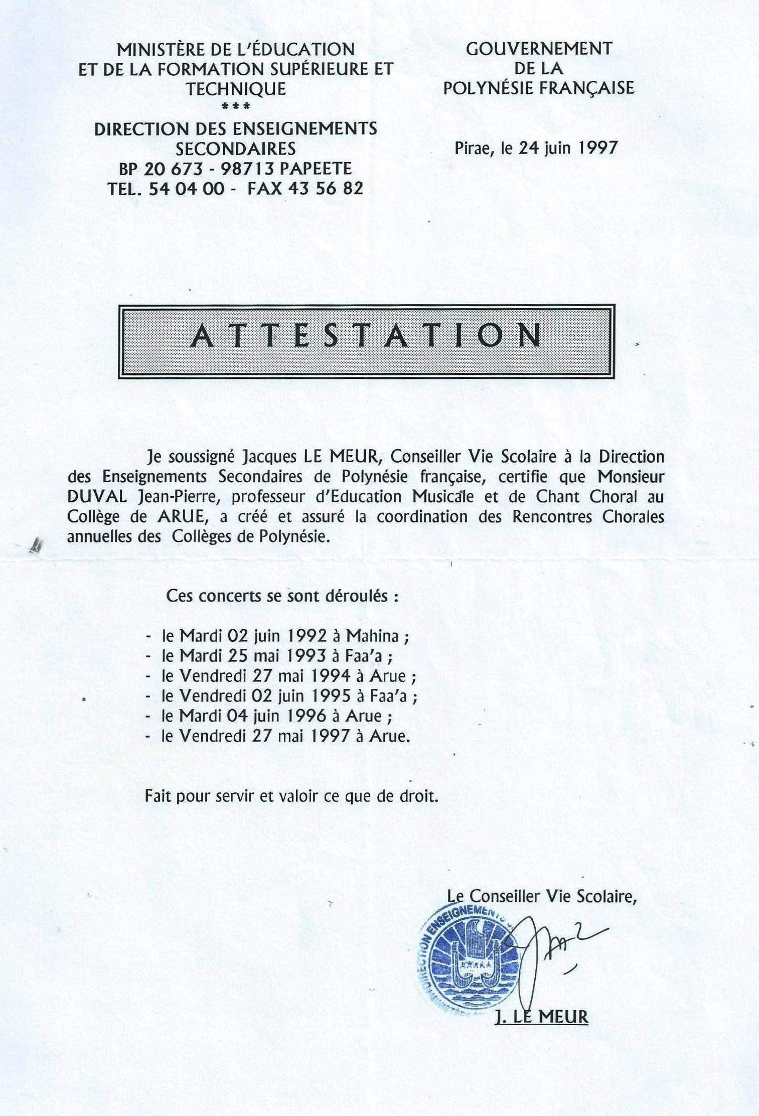 Attestation Le Meur 1997.jpg